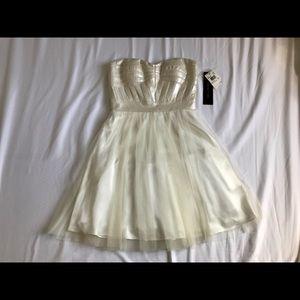 Aidan Mattox Faux Leather Strapless Dress - NWT